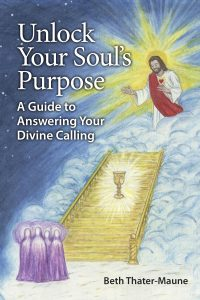 book cover with Jesus atop a stairway surrounded by clouds